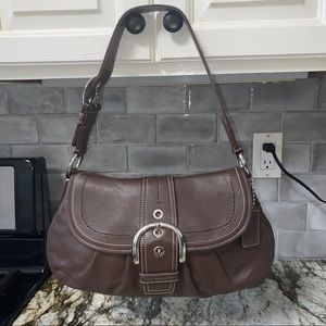 Coach Soho Flap Hobo Purse Buckle Bag
